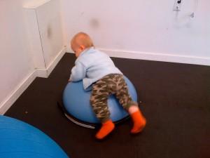 Bosu balancing.