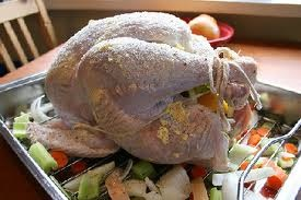 The prepped bird.