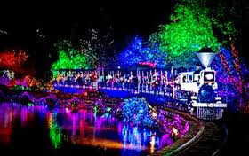 The Christmas Train at Bright Nights
