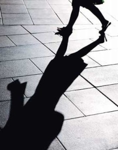3) My shadow.