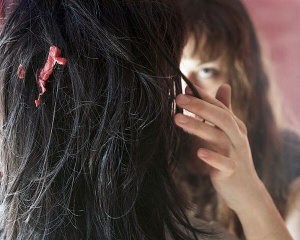 7) Gum in my hair.
