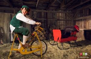 Elf riding a bike